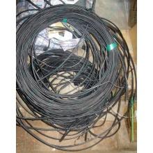 Оптический кабель Б/У для внешней прокладки (с металлическим тросом) в Королеве, оптокабель БУ (Королев)