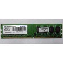 Модуль оперативной памяти 4Gb DDR2 Patriot PSD24G8002 pc-6400 (800MHz)  (Королев)